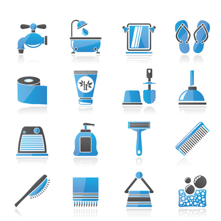 personal care: Bathroom and Personal Care icons- vector icon set 1