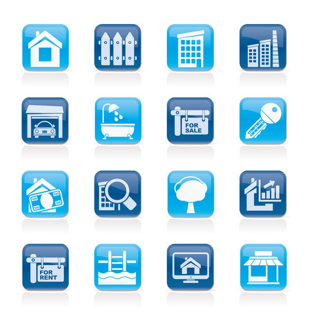 Real Estate Icons - Vector Icon Set Vector