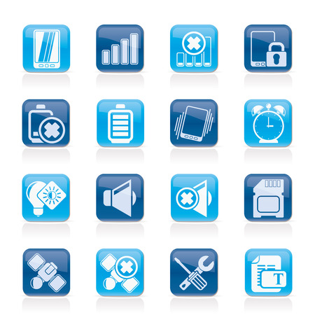 Mobile Phone sign icons - vector icon set Vector