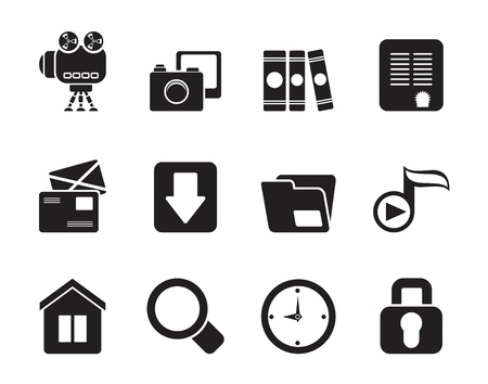 chock: Silhouette of Computer and website icons