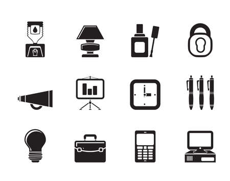 water cooler: Silhouette Business and office icons