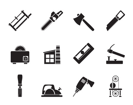 impact tool: Silhouette Woodworking industry and Woodworking tools icons