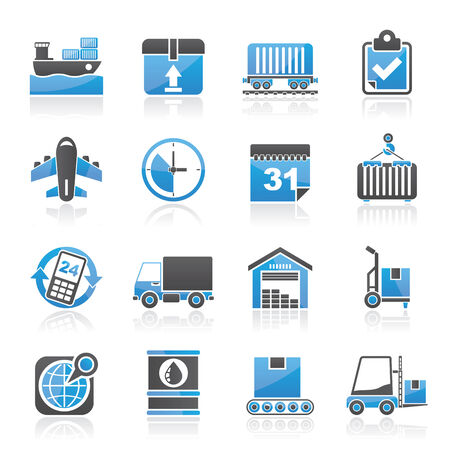 air port: Logistic and Shipping icons - vector icon set