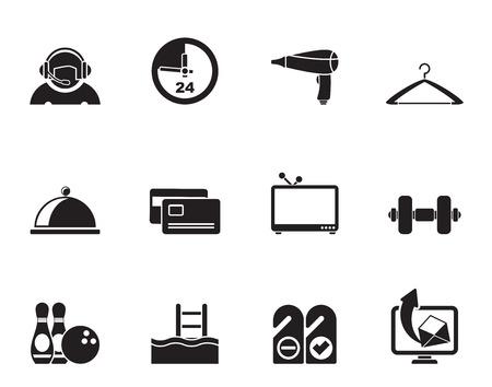 standardiste: h�tel de Silhouette et motel agr�ment ic�nes - vecteur ic�ne ensemble