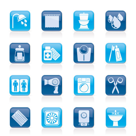 monoblock: Bathroom and Personal Care icons- vector icon set 2