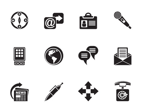 Silhouette Business, office and internet icons - vector icon set Vector