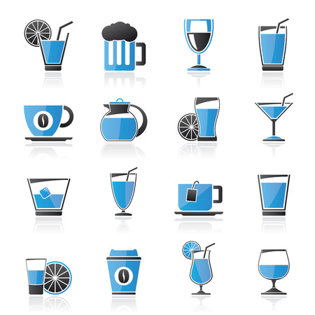 non alcoholic beer: drinks and beverages icons  -vector icon set