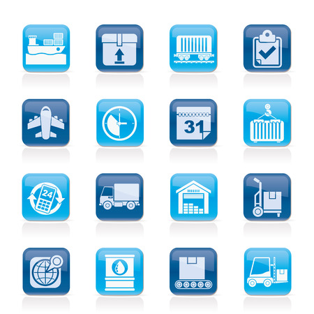 Logistic and Shipping icons - vector icon set Vector