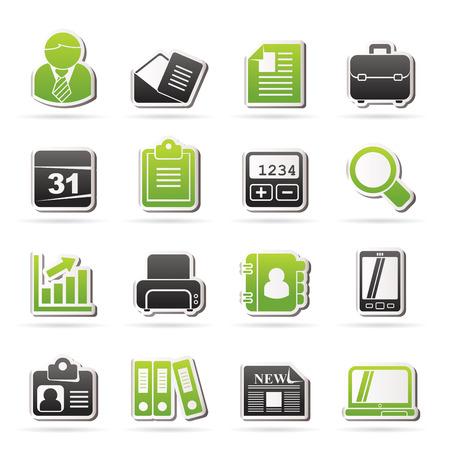 Zakelijk en kantoor iconen - vector icon set