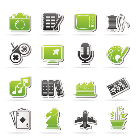 Hobbies and leisure Icons - vector icon set Vector