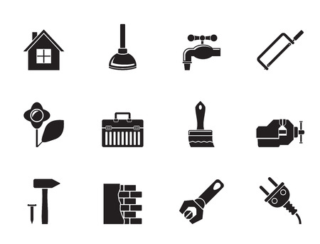 Silhouette construction and do it yourself icons