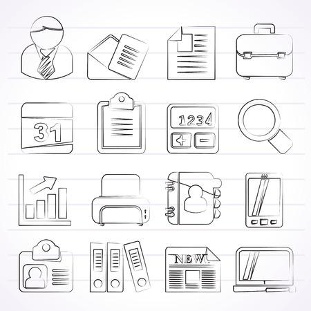 Business en kantoor iconen