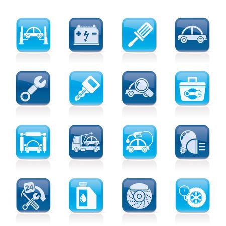 automotive industry: Car service maintenance icons