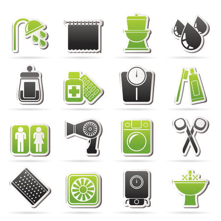 personal care: Bathroom and Personal Care icons- vector icon set 2