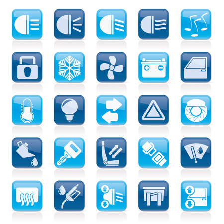 Car interface sign and icons - icon set Vector