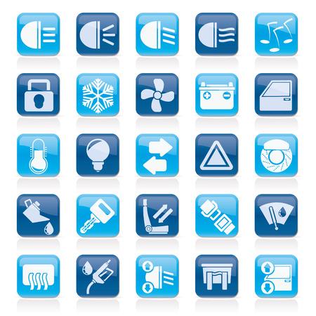 Signo de interfaz para el autom�vil y los iconos - conjunto de iconos