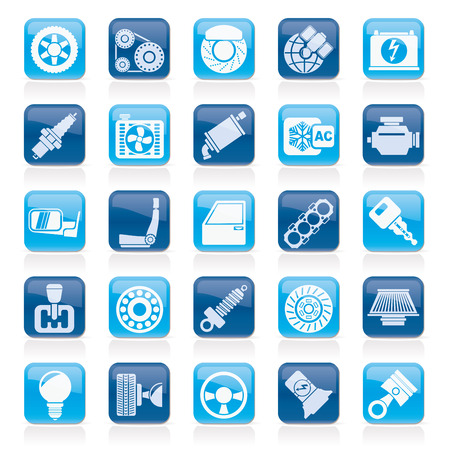 Car parts and services icons - icon set