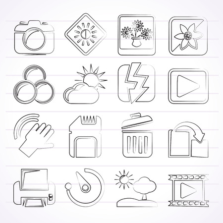 printer icon: Photography and Camera Function Icons  - icon set