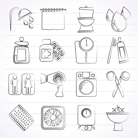 monoblock: Bathroom and Personal Care icons- icon set 2