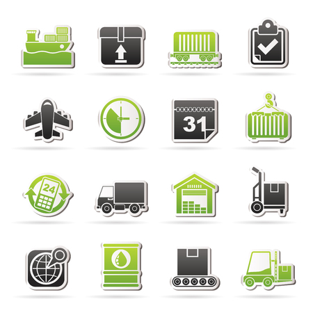 Logistic and Shipping icons - icon set Vector