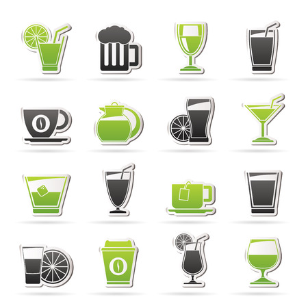 vodka: drinks and beverages icons -icon set