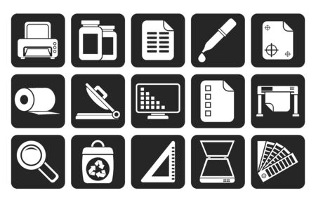 Silhouette Commercial print icons