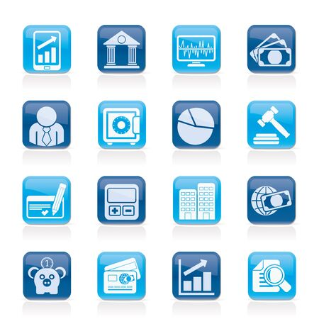 bankcard: Business, finance and bank icons - vector icon set Illustration