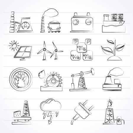solar heating: Electricity and Energy source icons