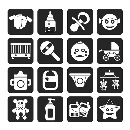 whelps: Silhouette Baby, children and toys icons