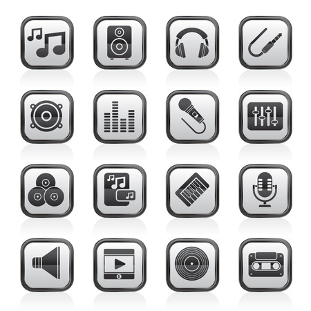 equalization: Music, sound and audio icons - vector icon set