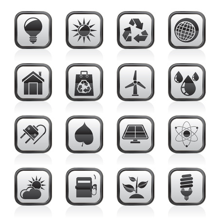 Ecology, nature and environment Icons -vector icon set Vector