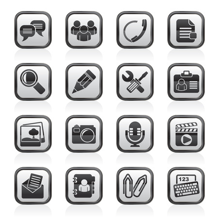 chat icons: Chat Application and communication Icons - vector icon set