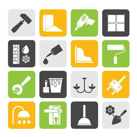 insulation: Silhouette Construction and building equipment Icons