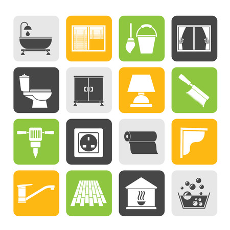 shop floor: Silhouette Construction and building equipment Icons