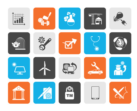 Silhouette Internet and Website Portal icons - vector icon set Vector
