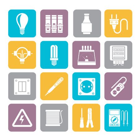 energetics: Silhouette Electrical devices and equipment icons