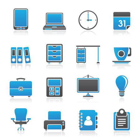 Business and office Icons -vector icon set Vector