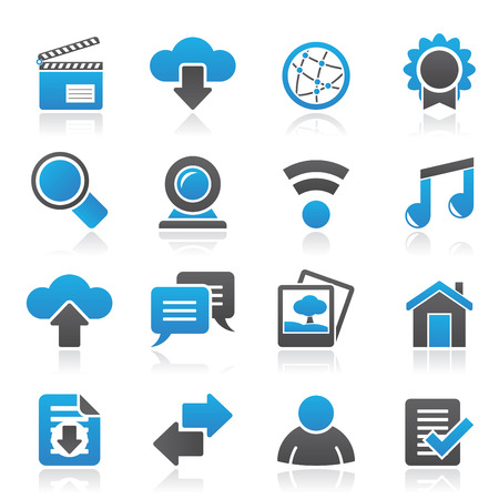 camra: Internet and website icons - vector icon set