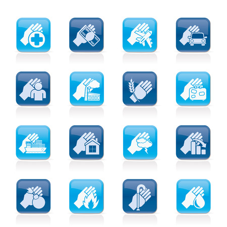 Insurance and risk icons - vector icon set Vector