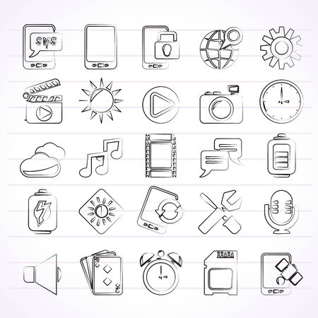Mobile Phone Interface icons - vector icon set Vector