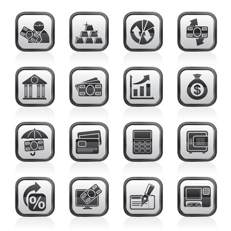 bankcard: Bank, business and finance icons - vector icon set Illustration