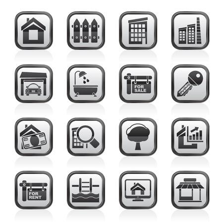 Real Estate Icons - Vector Icon Set Vector