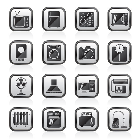 electronics icons: home appliances and electronics icons - vector icon sethome appliances and electronics icons - vector icon set Illustration