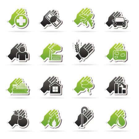 monet: Insurance and risk icons - vector icon set