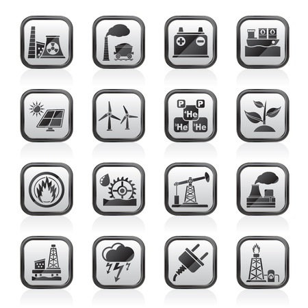 thermal power plant: Electricity and Energy source icons