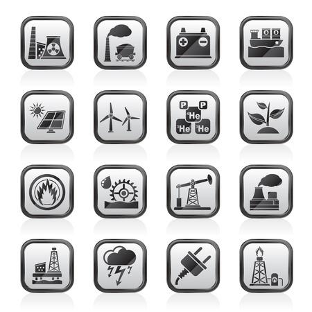 thermal power plant: Iconos de la fuente de Luz y Fuerza