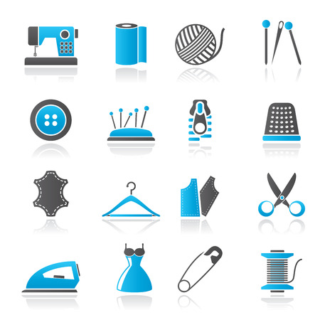 spool: sewing equipment and objects icons