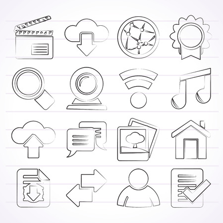 flapping: Internet and website icons - vector icon set