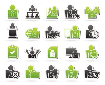 human resource: human resource and business icons - vector icon set