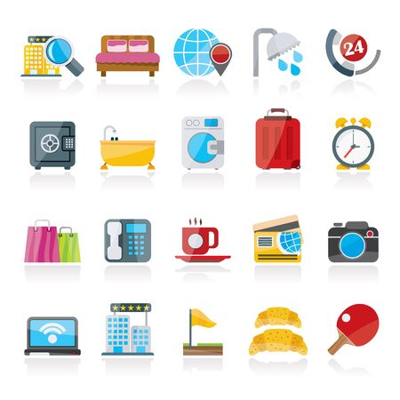 motel: Hotel and motel services icons 1- vector icon set